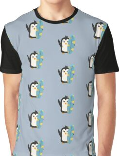 Surfboard Penguin   Graphic T-Shirt