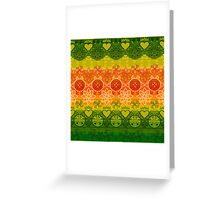 Green, Yellow & Orange Boho Geometric Pattern Greeting Card