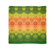 Green, Yellow & Orange Boho Geometric Pattern Scarf