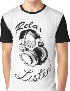 Music Relax and Listen Headphone Graphic Graphic T-Shirt