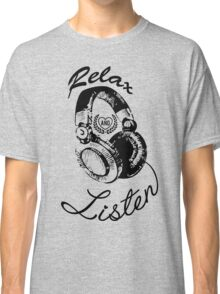 Music Relax and Listen Headphone Graphic Classic T-Shirt