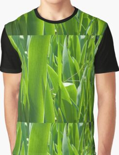 back lit green leaves Graphic T-Shirt