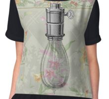 Victorian Green Floral Steampunk Light Bulb Chiffon Top