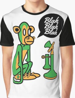 Green Monkey saying blah blah blah Graphic T-Shirt