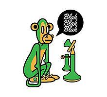 Green Monkey saying blah blah blah Photographic Print