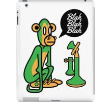 Green Monkey saying blah blah blah iPad Case/Skin