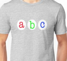 """abc typography"" Unisex T-Shirt"
