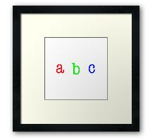 """abc typography"" Framed Print"