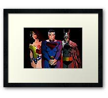 Superhero Trinity Framed Print