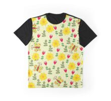 Summer pattern with flowers and butterflies Graphic T-Shirt