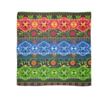 Blue, Green & Red Boho Geometric Pattern Scarf