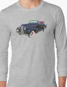Black 1938 Cadillac Lasalle Antique Car Long Sleeve T-Shirt