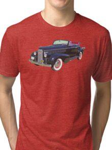 Black 1938 Cadillac Lasalle Antique Car Tri-blend T-Shirt