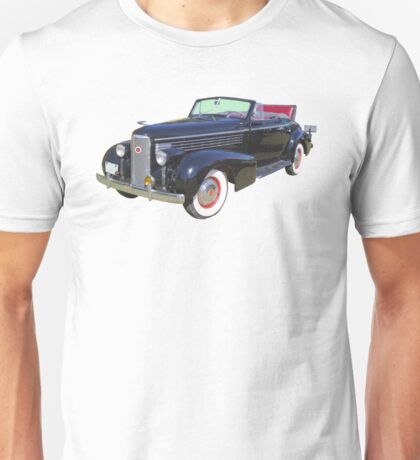 Black 1938 Cadillac Lasalle Antique Car Unisex T-Shirt
