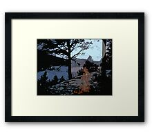 Camp Fire // Comic Style Framed Print