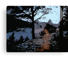 Camp Fire // Comic Style Canvas Print