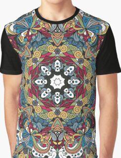 Colorful Boho Mandela Pattern Graphic T-Shirt
