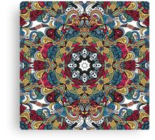 Colorful Boho Mandela Pattern Canvas Print