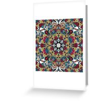 Colorful Boho Mandela Pattern Greeting Card