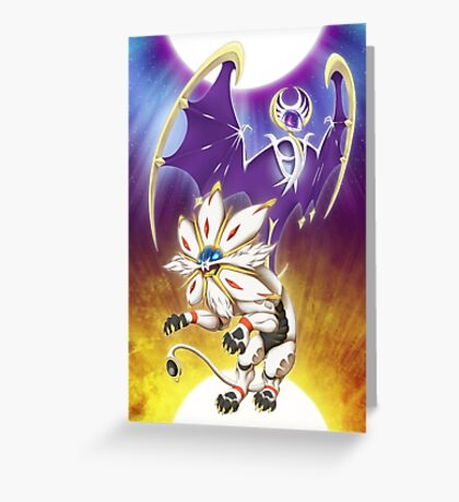 Pokemon - Solgaleo and Lunala Greeting Card