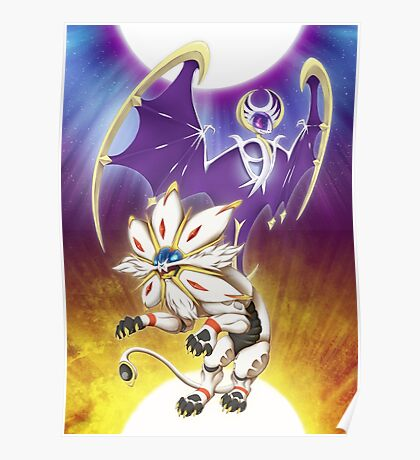 Pokemon - Solgaleo and Lunala Poster