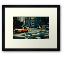 New York Street Framed Print