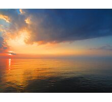 Sunset on the ocean Photographic Print