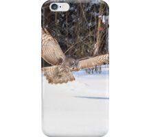 A Great Grey Owl in flight iPhone Case/Skin