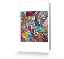 Boho Triangle Patchwork Pattern Greeting Card