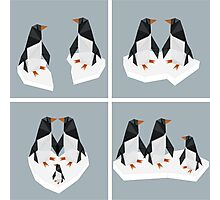 Geometric Penguin Photographic Print