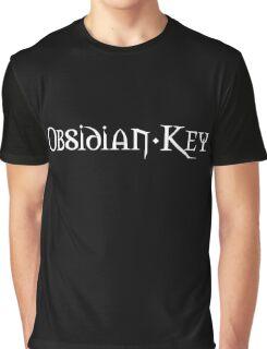 Obsidian Key Band Logo Classic White Graphic T-Shirt
