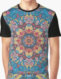 Colorful Boho Geometric Pattern Graphic T-Shirt