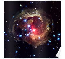 Monocerotis, red variable star, astronomy, space Poster