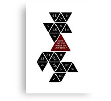 Flattened D20 - Dungeons and Dragons - Critical Role Fan Design Canvas Print