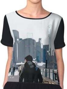 City Scene // Comic Style Chiffon Top