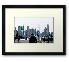 City Scene // Comic Style Framed Print