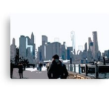 City Scene // Comic Style Canvas Print