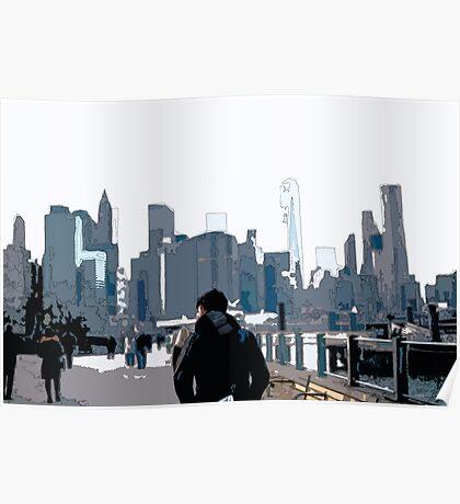 City Scene // Comic Style Poster
