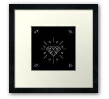 DIAMONDS - black vrs.  Framed Print
