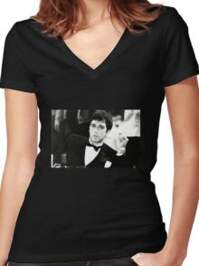 scarface Women's Fitted V-Neck T-Shirt