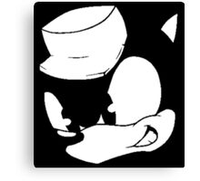 Clever Sonic (Black and White) Canvas Print