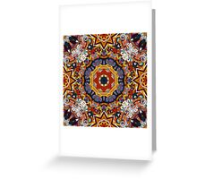 Orange & Purple Boho Geometric Pattern Greeting Card