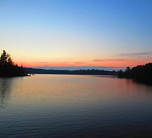 Cottage lake sunset  by JessicaCarr