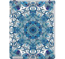Blue & White Boho Mandela Pattern iPad Case/Skin