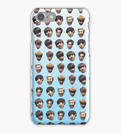 BTS (Bangtan Sonyeondan) FUNNY DERP FACE GRADIENT BLUE iPhone Case/Skin