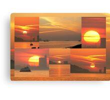 Sunset. Rio Tejo. Canvas Print