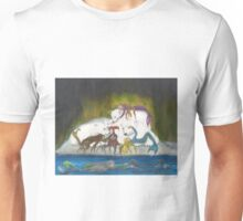 Arctic Mermaids Polar Bears Cathy Peek Art Unisex T-Shirt