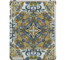 Olive Green & Blue Boho Mandela Pattern iPad Case/Skin