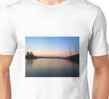 Cottage lake sunset  Unisex T-Shirt