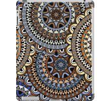 Blue & Gold Boho Mandela Pattern iPad Case/Skin
